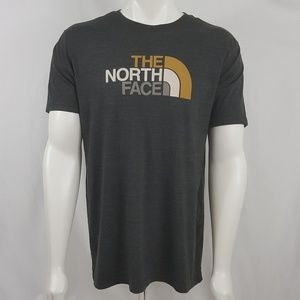 North Face slim fit spell out graphic T Shirt XL